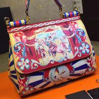 Wholesale Prince Bags - Wholesale- 2016 new prince Sicily handbags leather casual mobile printing platinum bag shoulder diagonal package female