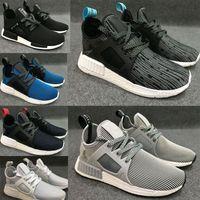 Wholesale Multiple Light - 2017 new NMD Runner Primeknit XR1 running shoes multiple Colour man women shoes white black blue green sneaker nmd runner R1 discount shoes