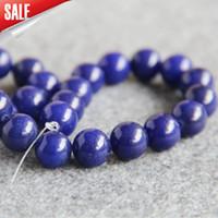 Wholesale Cyan Crystal - New Necklace&Bracelet Accessories 12mm Multicolor Cyan Lapis Lazuli beads stones Jasper Beads JADE beads loose 15inch Jewelry