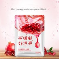 Wholesale Pomegranate Mask - Red Pomegranate Essence Facial Mask Hyaluronic Injections Anti Aging Mezoroller Face With Hyaluron Face Mask