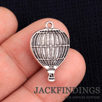 Wholesale Wholesale Hot Air Balloon Plates - Wholesale-20pcs 24x16mm Antique Tibetan Silver Charms Pendant Wedding Decoration Bracelet Necklace Hot Air Balloon CMG0699