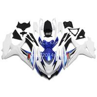 carenado k8 al por mayor-5 regalos gratis Nueva ABS motocicleta Kits de carenado 100% aptos para SUZUKI GSXR600 750 K8 08-10 GSXR600 GSXR750 2008-2010 bonito blanco azul bonito 168