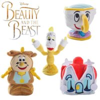 Wholesale Movie Cups - Beauty and The Beast Plush Dolls Teapot Cup Candle Holders Kids Soft Plush Stuffed Dolls OOA2426