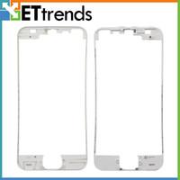 iphone bezel sticker achat en gros de-Cadre de qualité supérieure avec autocollant de colle pour iPhone 5 petites pièces de rechange de rechange noir blanc DHL Livraison gratuite AB0064