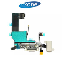 Wholesale replacement audio - New Tested Original Replacement Dock Connector USB Charging Port & Headphone Audio Jack Flex Cable Ribbon For iPhone 5 5G 5C 5S 6 6Gplus
