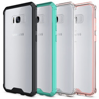 Wholesale Galaxy Note Case Black - For Samsung Galaxy S8 Case Soft TPU Bumper + Clear Hybrid Back Cover Case For Samsung S8 S8plus Note 8