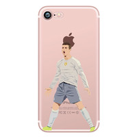 Wholesale Wholesalers Football Phone Cases - Football superstar Phone Case for iphone 5s 5 6 7 6s se 6s plus Coque Football Star Transparent Silicon tpu for Samsung