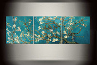 Wholesale Van Gogh Almond Blossom Canvas Giclee Prints Wall Art Home Decorative Posters Modern art Pieces Sets