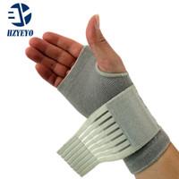 bilek bandajları toptan satış-HZYEYO Profesyonel elastik spor güvenlik karpal tünel tenis bilek bandaj brace destek ücretsiz kargo H004