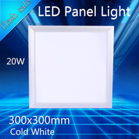 Wholesale Surface Mount Bright White Led - LED Panel Light 300x300 20w Square 600x600 Led Ceiling Panel light 60W SMD 5730 Bright 4800lm Indoor Lighting 220V Cold White