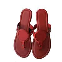 Wholesale Gold Flip Flops For Women - Yuf15 High Quality Travel Boho Flat Heel Flip Slippers Genuine Leather Summer Beach Flip Flops Sandals Shoes For Women Sz 35-41