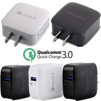Wholesale mobile phone fast charger online - QC3 Quick Fast USB Wall Charger US Mobile Phone Charger Adapter Wall Travel Charger For Samsung S6 s7 s8 For iPhone plus pc