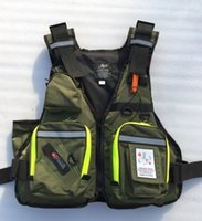 Wholesale Big Pdf - Wholesale- Best Quality New Arrival Multifunction fishing clothes big pocket life jacket Lures fishing vest safety PDF Angler Waistcoat