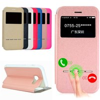 Wholesale Windows Closer - Wallet Case for Samsung S8 S7 S6 Edge Note5 A310 A510 with Stand Window View Magnetic Closing TPU Bumper Flip Full Cover
