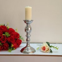 Wholesale Hotel Christmas Party Table Decoration - New Arrival 25 cm tall table candle holder Wedding candle stick Party Centerpiece Home hotel Decoration 1 lot = 2 pcs