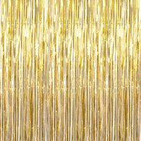 Fiocco d'argento metallico oro metallico Tenda Fringe Tinsel String Shiny Shimmer Party Wedding Compleanno Decorazione Door Foto Booth Backdrop