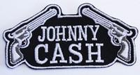 eisen-logo-patch großhandel-Heißer Verkauf 2017 Custom Design Logo Name JOHNNY CASH GUNS PATCH Eisen Auf T-shit Cap Tasche Kostenloser Versand