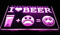 Wholesale Led Love Sign - LS1721-P-I-Love-Beer-Happy-Face-Bar-Pub-Decor-Light-Sign Decor Free Shipping Dropshipping Wholesale 6 colors to choose