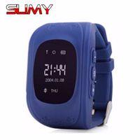 gps tracker kids wholesale achat en gros de-En gros- GPS Smart Watch Bébé Enfants Regarder Q50 OS Appel Lieu Dispositif Tracker pour Kid Safe Anti-Perdu Moniteur pour Enfant Enfants PK Q80 Q60 Q90