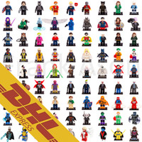 Wholesale Spiderman Blocks - Super Heroes Minifig 631 Roles Mix Order The Avengers Bat Movie Spiderman Super Man Figures Super Heroes Pump Mini Building Blocks Figure