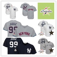Baseball black star games - 2017 New York Yankees Jersey Aaron Judge Gary Sanchez Jersey MLB All Star Game Stars and Stripes Baseball Jerseys