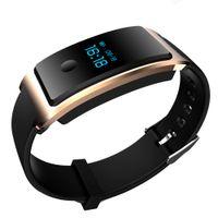 Wholesale Pressure Monitoring - 2017 FITBIT Xiaomi TW64 Heart Rate Monitor Smart Bracelet Touch Screen Alarm Clock Tracker IP67 Waterproof Interchangeable Wristbands
