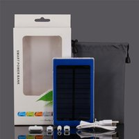 Wholesale Solar Charge Bank - 30000 mah Solar Charger and Battery 30000mAh Solar Panel Dual Charging Ports portable power bank for All Cell Phone table PC MP3