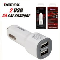 Wholesale Car Charger Adapter White - Remax Dual 2Ports 2.1A USB-Powered Intelligent Car Chargers Adapter For iPhone7 Charger Samsung Galaxy S7 ON5 LG Phone With Retail Package