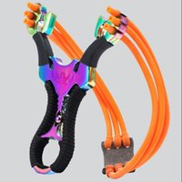 Wholesale Hunting Bow Sales - Hot Sale New Powerful Aluminium Alloy Slingshot Sling Shot Catapult Camouflage Bow Catapult Outdoor Hunting Camping Travel Kits