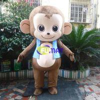 Wholesale Monkey Adult Mascot - FUMAT Lovely Monkey Cartoon Costume High Quality Supercute Halloween Children Party Mascot Costume Adult Size Sample Picture Customization