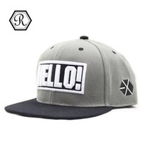 Atacado- Pop New 2016 Fashion Bone aba reta ny new york Olá bordado Chapéu senhoras e senhores Snapback Cap Men Women Basketball Hip