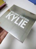 Wholesale Chrismas Angels - ew Kylie Jenner holiday collection 4pcs  set low price Chrismas Edition lip kit Gold Metal Matte lipstick noel blitzen angel free ship DHL