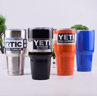 Wholesale Stainless Steel Thermos Free Shipping - Cheapest 30 oz Camo YETI Tumbler Rambler Cups Large Capacity Stainless Steel Cars Coffee Thermos Mugs My Sports Water Bottle Free ship