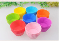 Wholesale Silicone Round Cake - Free Shipping 36 pcs Round Shape Soft Silicone Cake Muffin Chocolate Cupcake Liner Baking Cup Mold