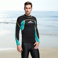 Muta in neoprene SBART 2mm surf top da uomo lunga camicia da bagno termica swim top fitness dive da nuoto