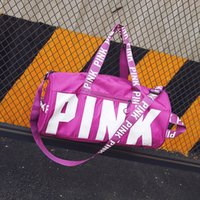 Wholesale Wholesale Luggage Shipping Bags - Love fashion Storage Bag Pink Duffel Bags Unisex Travel Bag Waterproof Beach Exercise Luggage Bags DHL free shipping
