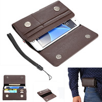 Wholesale Inch Holster - Fashion Universal PU Leather holster Belt Clip phone Wallet Case Cover Pouch for Samsung S6 S7 4.0-6.3 inch