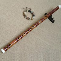 Wholesale Chinese Bass Instruments - LQP007 professional concert grade Chinese Bamboo flute Dizi red wire copper joint handmake Bass G A b BKey C D E F G A musical instruments