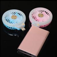 небольшой мини-блок питания оптовых-мини Портативный usb светодиодный вентилятор небольшой вентилятор с селфи заливки света светодиодные ночь свет карманный USB вентиляторы без батареи для Power bank многоцелевой