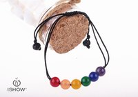 Wholesale Cute Bracelet Stone Natural - Natural stone bracelets for beaded LAVA stone energy bracelet bangle bracelets for Unisex adjustable cute strands