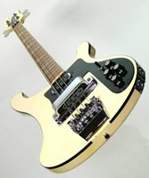 Wholesale Solid Rosewood Electric Guitar - Wholesale New Arrival 4 String 4003 Electric Bass Guitar stereo, varitone Cream with fretside binding in Cream 170728
