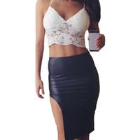 camisola sexy nueva mujer al por mayor-Oioninos Nueva Moda Mujeres Sexy Lace Bralet Sujetador Crop Top Ladies Camisole Party Halter Tank Tops