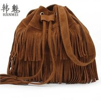 Wholesale Suede Fringe Crossbody Bag - Wholesale-2016 Retro Faux Suede Fringe Women Crossbody Messenger Bags New Handbag Tassel Shoulder Handbags Bag Gift Free Shipping N513