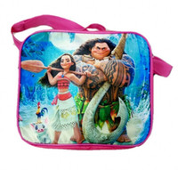 Wholesale Lunch Bag Backpack - cartoon moana Kids Lunch Bag Lunch Box water bottle for Girls School Fashion Bag Ourdoor Picnic Food Bag for kids back to school