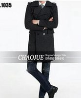 Wholesale British Men Coat Wool - Man the spring and autumn period and the han edition loose plus-size fashion boutique elegant British wool coat   S-5XL