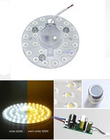 Led Pcb Modules online - Round pcb board led module 12w white   warm white ceiling transformation of light board integration module MT lamp retrofit Absorb