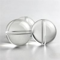 Wholesale Wholesale Quartz Clear - Glass Bead Ball Carb Cap for Thermal Banger Nail Flat Quartz Banger 10mm 14mm 18mm Clear Carb Caps Thick Pyrex Glass Water Pipes