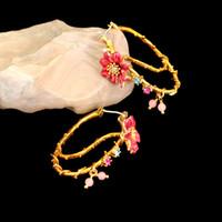 Wholesale France Beautiful - France Les Nereides Enamel Glaze Copper New Beautiful Cosmos Flower Women Earring