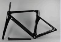 conjuntos de quadros de bicicletas venda por atacado-2 anos de garantia super leve quadro de carbono novo estilo shinny bicicleta vermelha quadro de carbono T1100 matt estrada quadro conjunto de carbono frete grátis