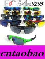 Wholesale Eye Glass Rimless Frames - 9295 Glasses Men Sunglasses Men outdoors Sports Oculos de sol feminino Fashion FLAK Sun glasses Female Original gafas 9 colors options